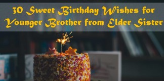 30 Sweet Birthday Wishes for Younger Brother from Elder Sister