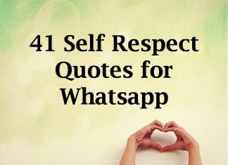 41 Self Respect Quotes for Whatsapp