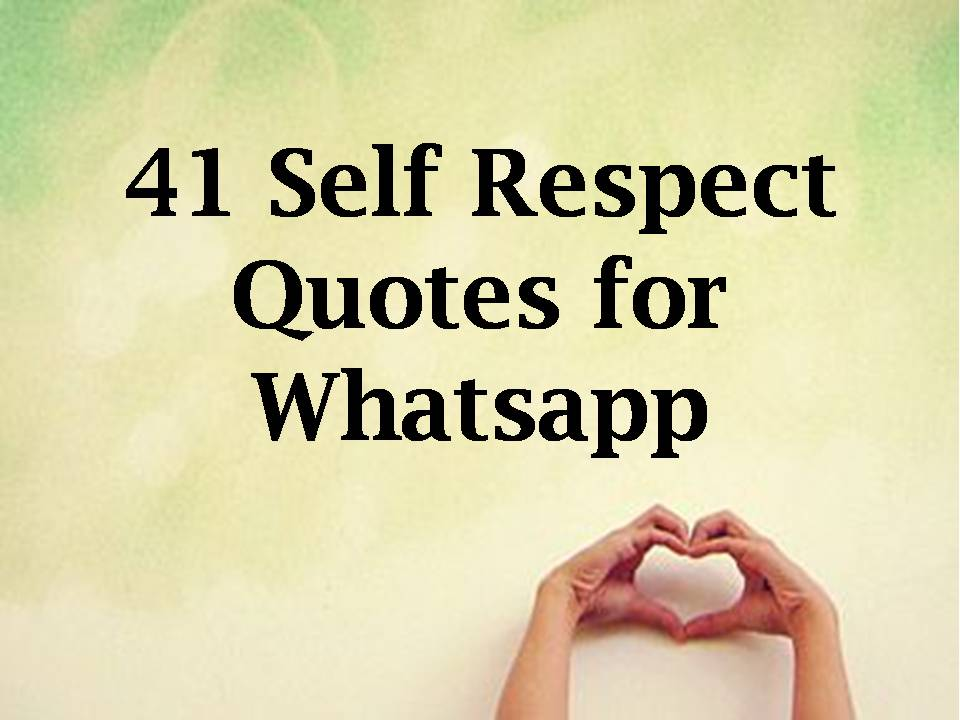 Quotes Respect Captivating Self Respect Quotes For Whatsapp