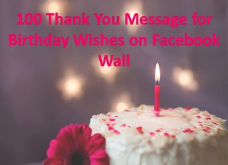 100 Thank You Message for Birthday Wishes on Facebook Wall