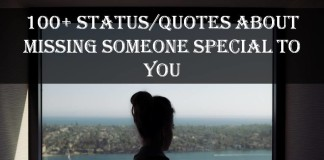 100+ Status/Quotes About Missing Someone Special To You