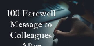 100 Farewell Message to Colleagues After Resignation