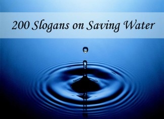 200 Slogans on Saving Water