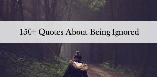 150+ Being ignored quotes