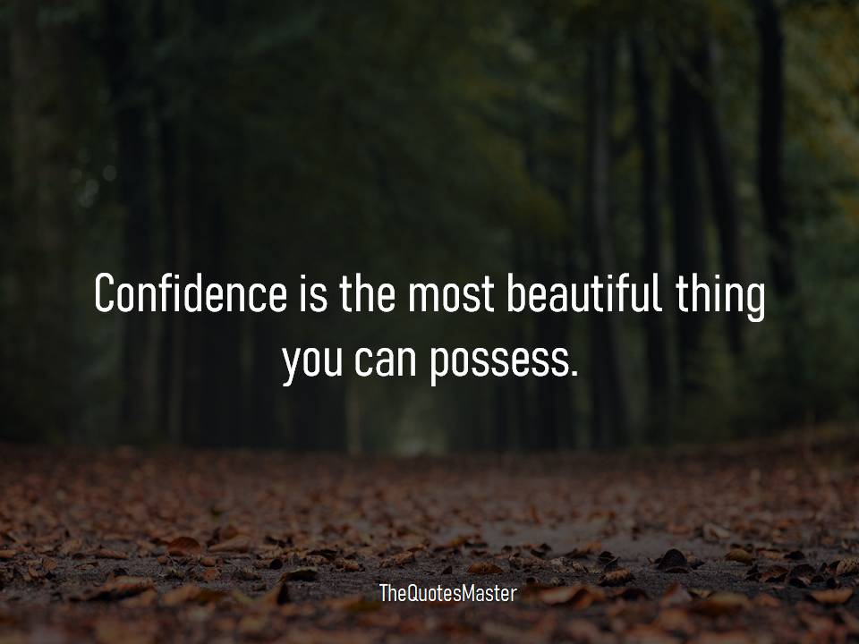 Confidence is the most beautiful thing