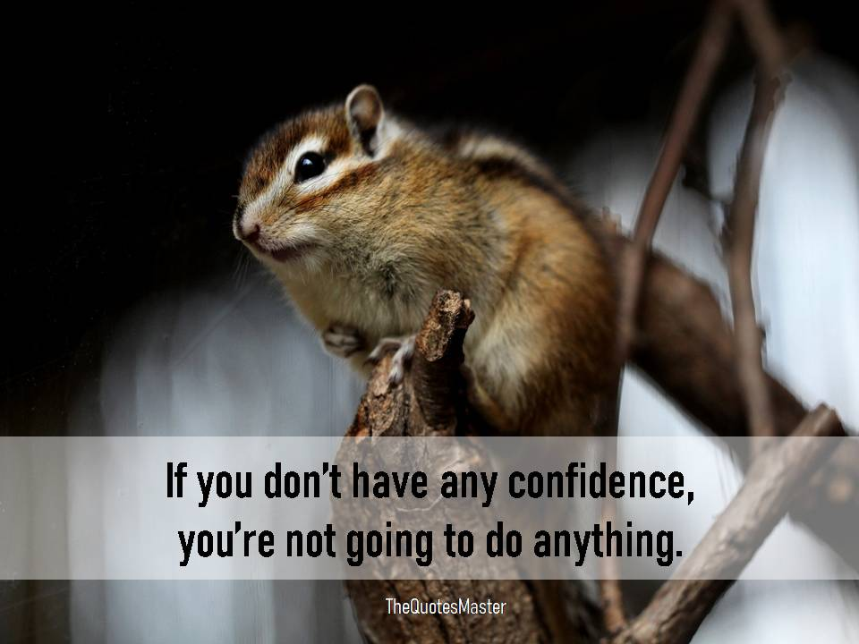 Have confidence and do anything