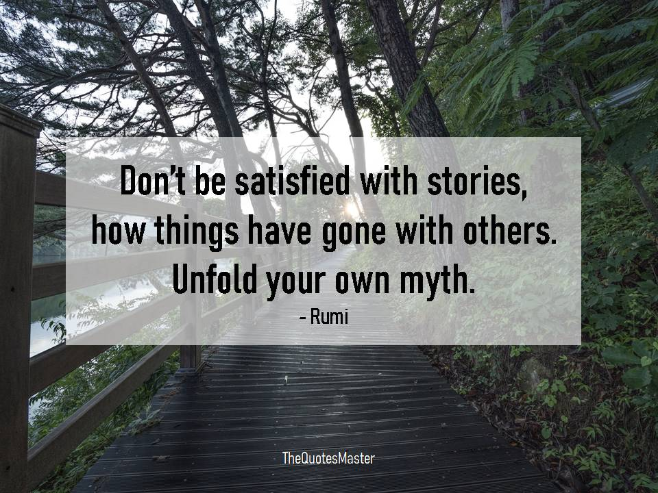 Unfold your own myth