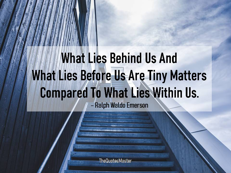 What lies within us matters