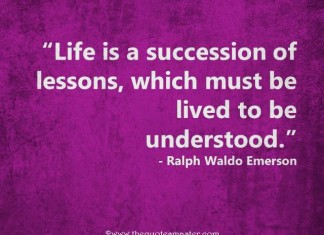 Best quote about life lessons