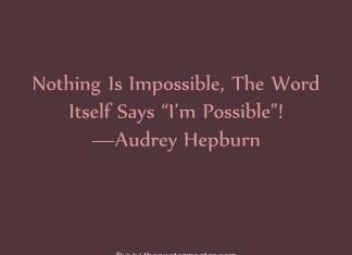 Inspiratonal Quote From Audrey Hepburn