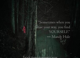 Lose your way to find yourself quote