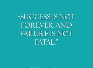 picture quote about success and failure