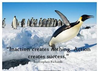 action creates success quotes