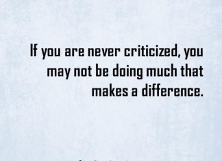 quote about criticism with image