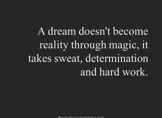 Quote about dreaming and achieving
