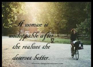 Women deserves better quotes
