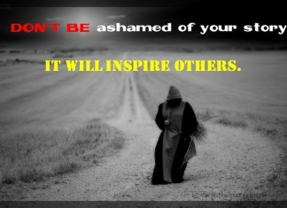 Dont be ashamed picture quotes