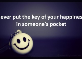 Key to happiness picture quotes