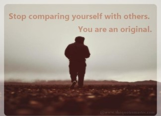 Stop Comparing...