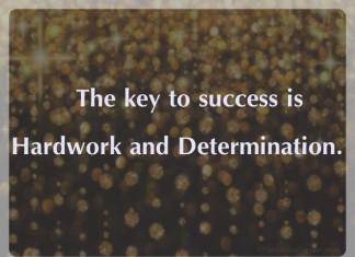 Success Hardwork and determination picture quotes