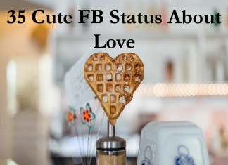 35 Cute FB Status About Love