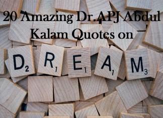 20 Amazing APJ Abdul Kalam Quotes on Dreams