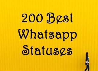 200 Best Whatsapp Statuses