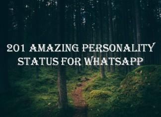 201 Amazing Personality Status for Whatsapp