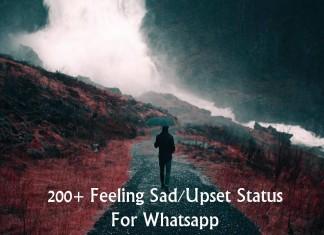 200+ Feeling Sad/Upset Status For Whatsapp