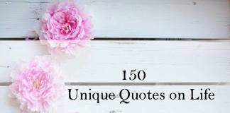 150 Unique Quotes on Life