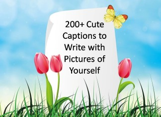 200+ Cute Captions to Write with Pictures of Yourself