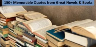Memorable Quotes from Great Novels & Books